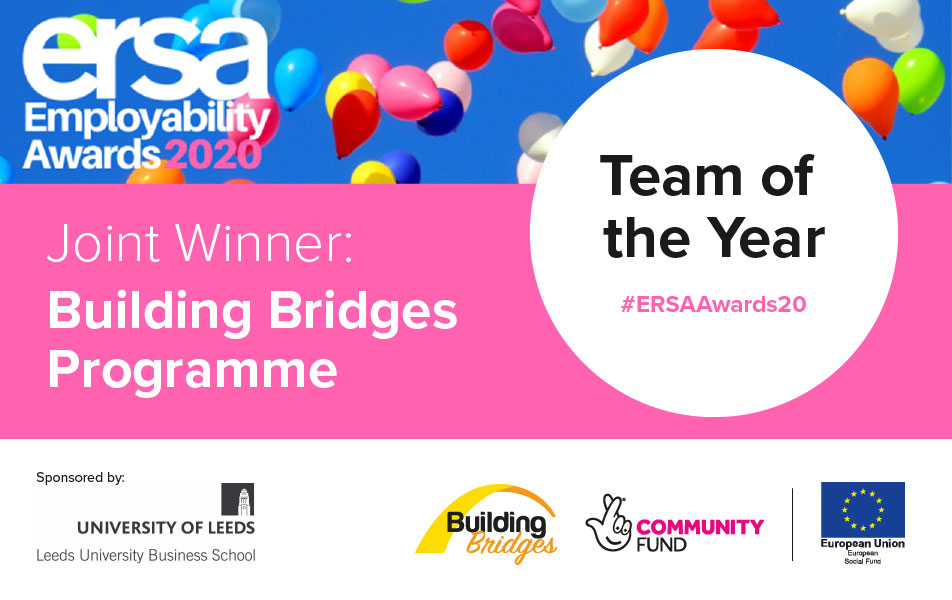 Building Bridges Programme jointly awarded Team of the Year at ERSA Employability Awards 2020.